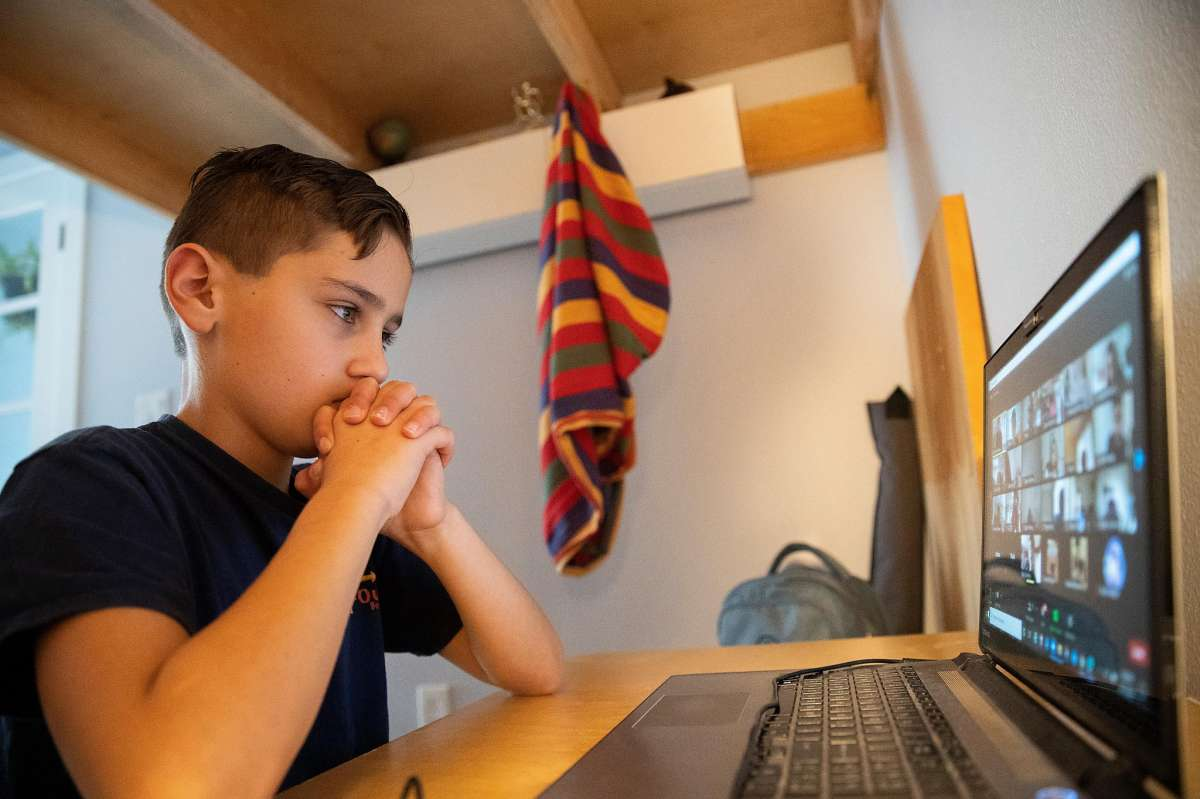 Senan, a fourth-grader, was at home in San Francisco instead of at school for his online drama class last week.