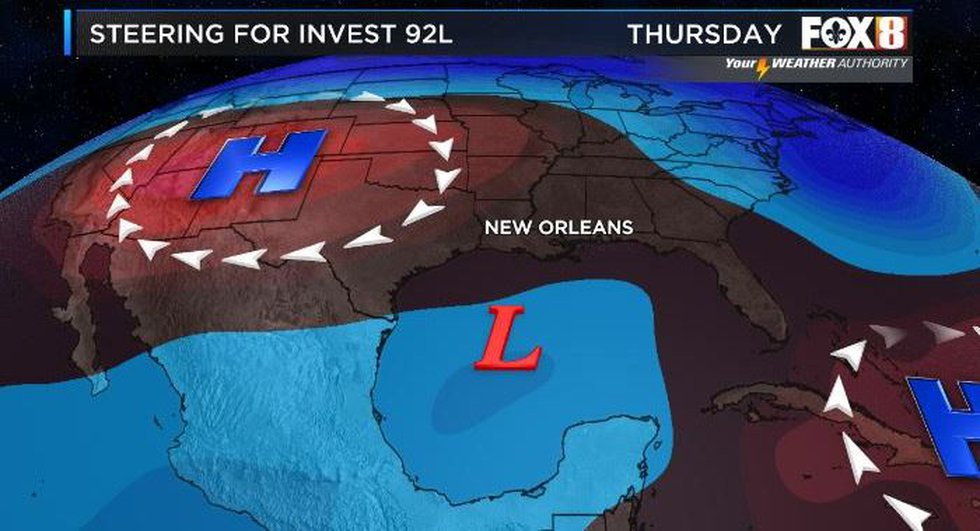 A tropical depression is expected to form by late Thursday or early Friday as it heads in the...